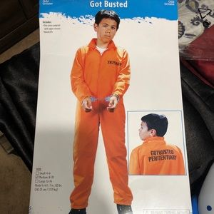 Youth prisoner costume. With handcuffs